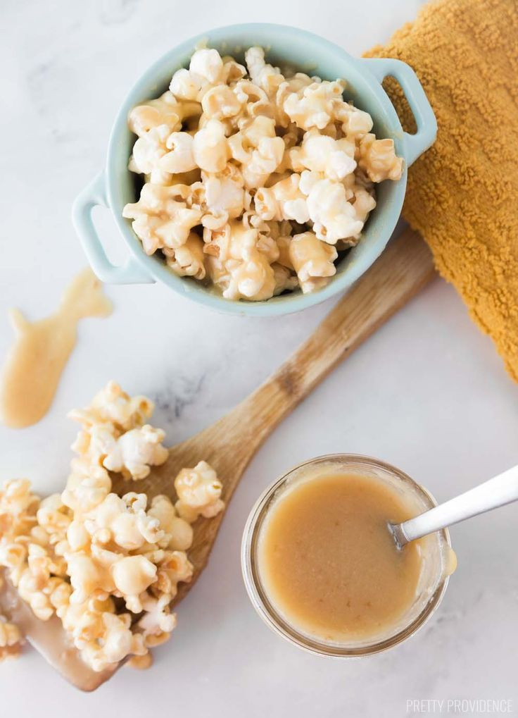 aunt val s caramel recipe we love food pinterest cream tops popcorn and caramel