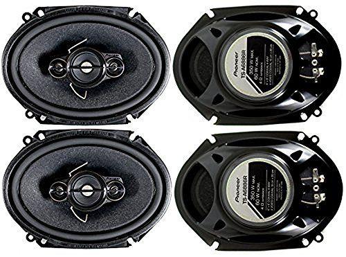 4) Pioneer 5x7 / 6x8 Inch 4-Way 350 Watt Car Stereo Speakers Four | TS-A6886R #Pioneer #Inch #Watt #Stereo #Speakers #Four