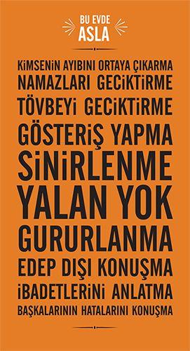 Bu posterdekiler hiç bir evde olmamalı ve fakat bu poster her evde olmalı.. =) Baskı için PDF ve PNG sitede mevcuttur...