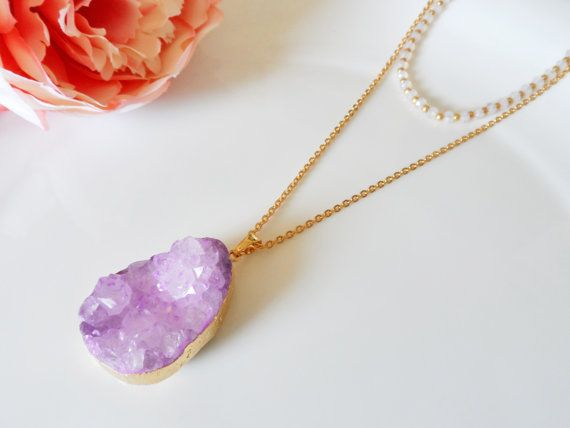 Hey, I found this really awesome Etsy listing at https://www.etsy.com/listing/225936572/gemstone-necklace-raw-geode-agate