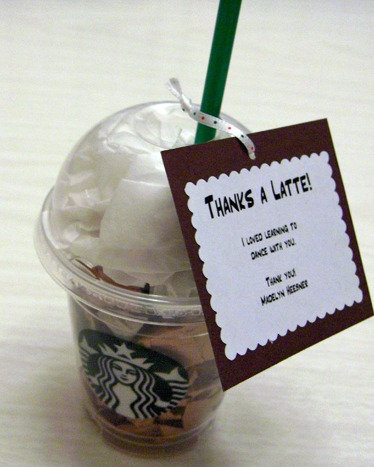 cute idea - would put cookies inside the coffee cup and the card hanger an envelope with gift card inside.