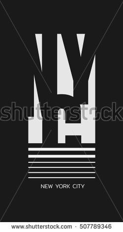 Vector illustration on the theme in New York City. Typography, t-shirt graphics, print, poster, banner; flyer, postcard