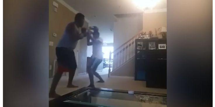 Πατέρας τιμωρεί τον 17χρονο γιο του παίζοντας μποξ - Τον μάτωσε με δυνατές μπουνιές