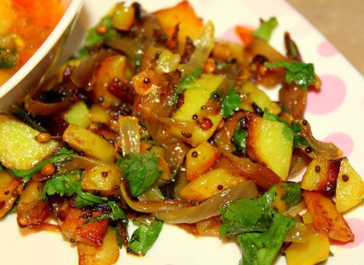 Meal Series: Aloo Pyaaz and Bhaji with Roti/Chapati(Spiced Potato Onions, Vegetable Stew with Indian Bread) - Vegan Richa