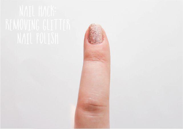 Nail Hack: Removing Glitter Nail Polish #nails #nailpolish #mani #beauty #beautyblog #beautyblogger #mani #nailart #nailpolish