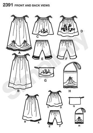 Free+Printable+Pillowcase+Dress+Pattern | Simplicity 2391 - Child's vintage pillow case fashion