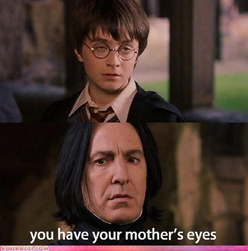 your mothers eyes Harry Potter