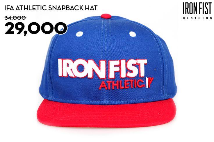 IFA ATHLETIC SNAPBACK HAT (BLUE) / 34,000원 → 29,000원 http://www.ironfist.co.kr/shop/goods/goods_view_athletic.php?goodsno=432  #ironfist #아이언피스트 #athletic #운동 #건강 #피트니스 #스포츠 #모자 #스냅백