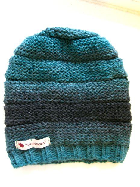 Beanie-Mütze ganz einfach selbst stricken - mit Anleitung! Pattern for slouchy hat- easy! http://bastelschaf.wordpress.com/2013/07/02/beanie-mutze/