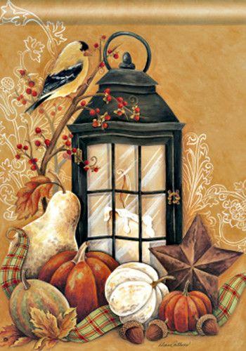 Autumn Lantern Fall Garden Flag Diane Arthurs | eBay