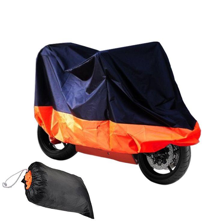 HOUSSE BACHE MOTO Couvre-Moto velo VTT scooter Taille XL 245cm orange noir protection moto couverture