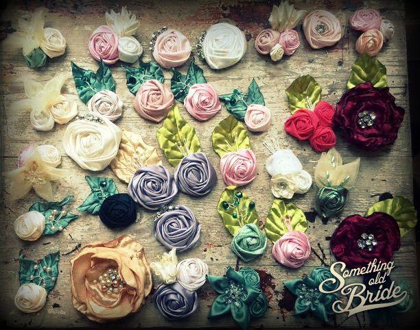 Flower Jewelry rainbow Colors www.somethingoldbride.com Facebook/Something Old Bride