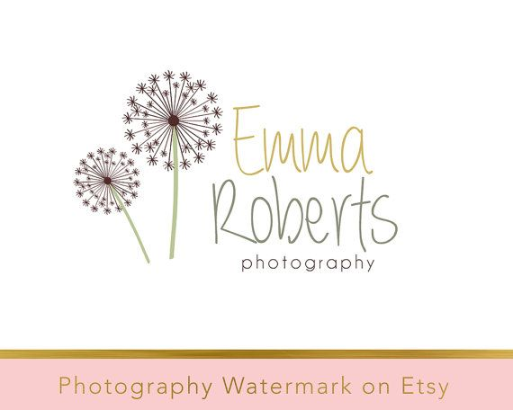Instant download logo - Premade Logo - Dandelion Watermark - Photography Watermark - Photography Logo - Dandelion Logo - Flower Logo 133