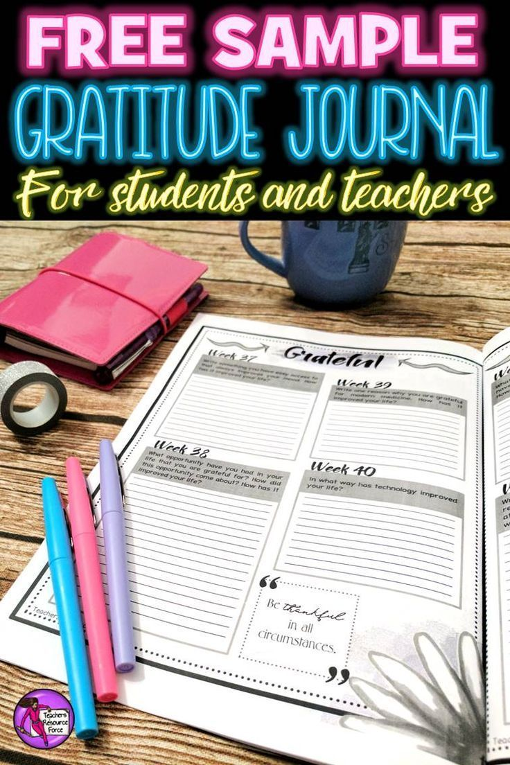 Are you worried about the emotional needs of your students? Increase long-term well-being, improve health, relationships, emotions and help students bounce back from stressful experiences with a FREE Gratitude Journal! @resourceforce