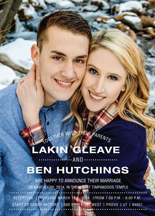 Wedding Invitation Ideas | Utah Announcements | www.utahannouncements.com