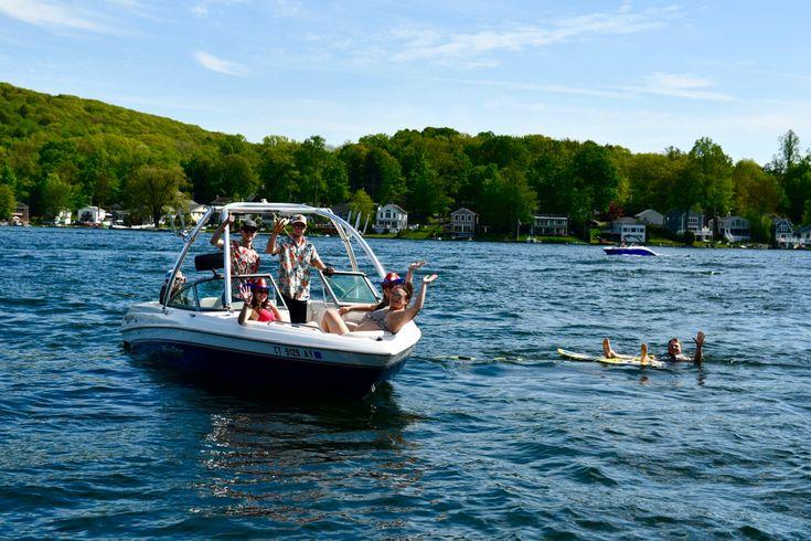 Fun on Highland Lake! in 2020 Highland lakes, Lake, Sunset