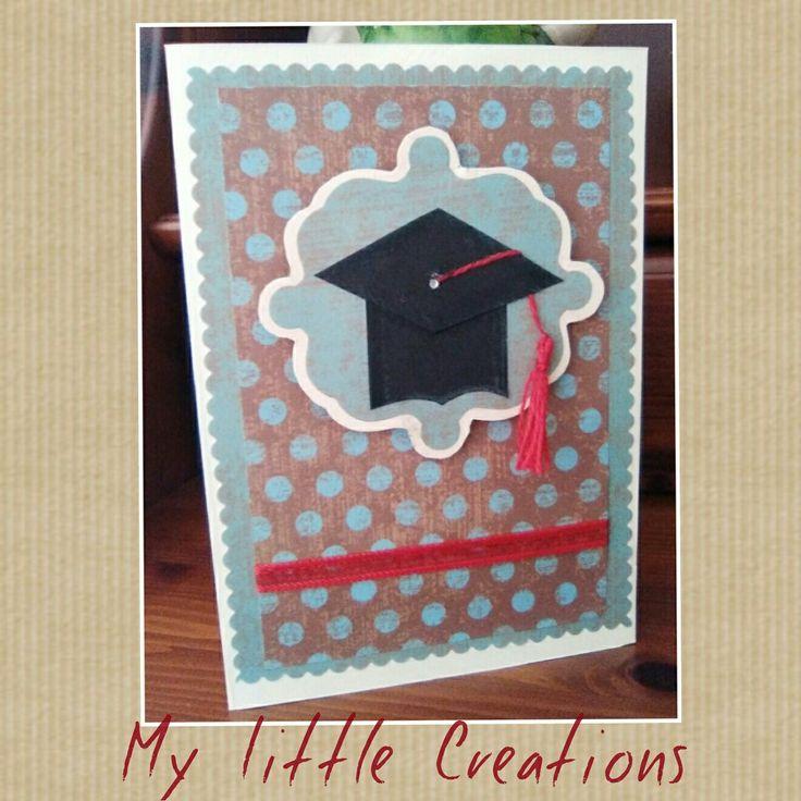 Cartolina per laurea con cappello. Passate sulla pagina fb