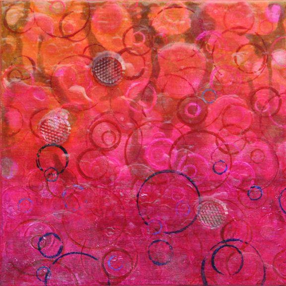 "Bubbling Sugar, Rick Rogers, Acrylic on Wood Panel, 10"" x 10"", 2011"