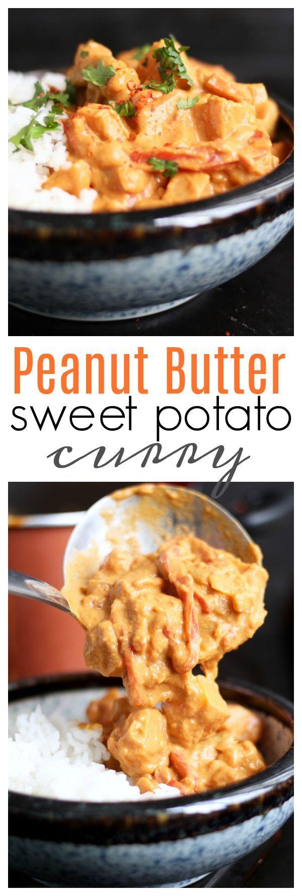 Creamy Peanut Butter Sweet Potato Curry