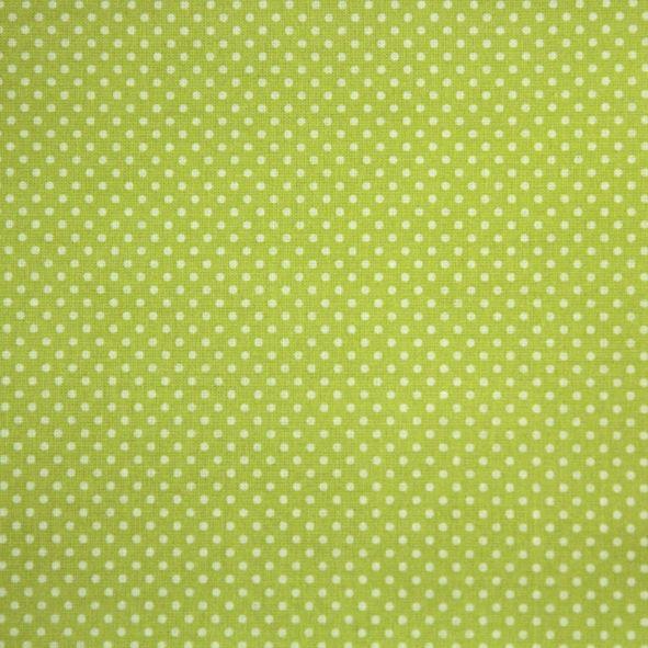 Bavlněná látka puntíky na zelené limetkové