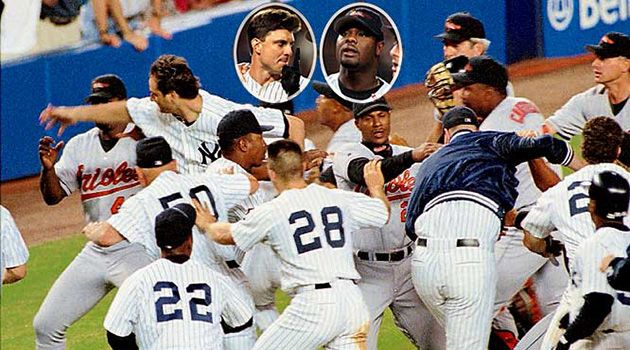 Revisiting The Epic 1998 Yankees vs Orioles Brawl In GIF Form [31 GIFS]