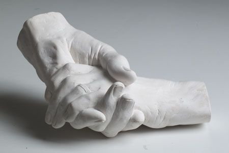 A Loving Embrace - a lifecast of two hands made in Dorset - Martin ...
