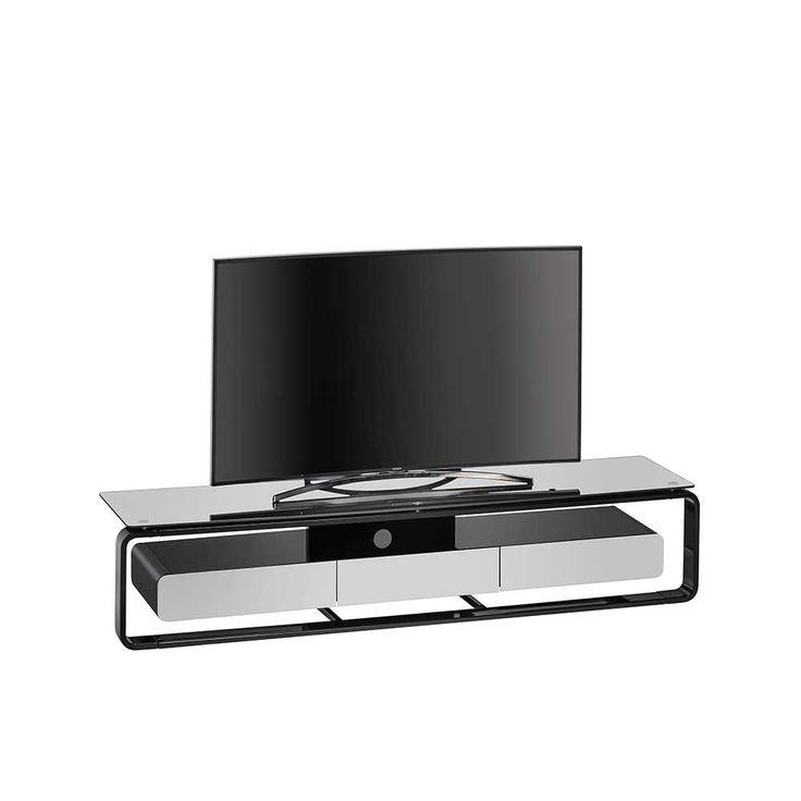 Good TV Element in Schwarz Hochglanz Grau Glas Jetzt bestellen unter https moebel ladendirekt de wohnzimmer schraenke lowboards uid udb b b aa