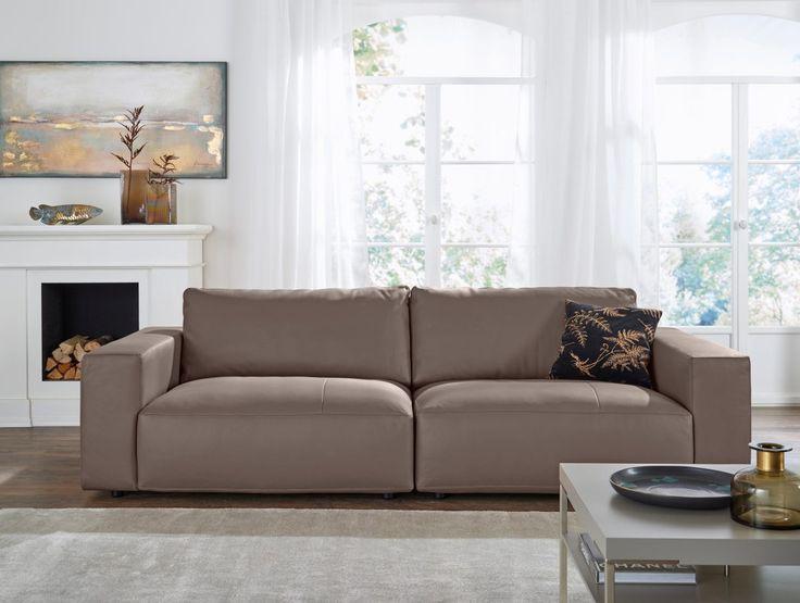 Ledercouch braun wohnzimmer  wohnzimmer ideen mit brauner couch für ein angesagtes interieur ...