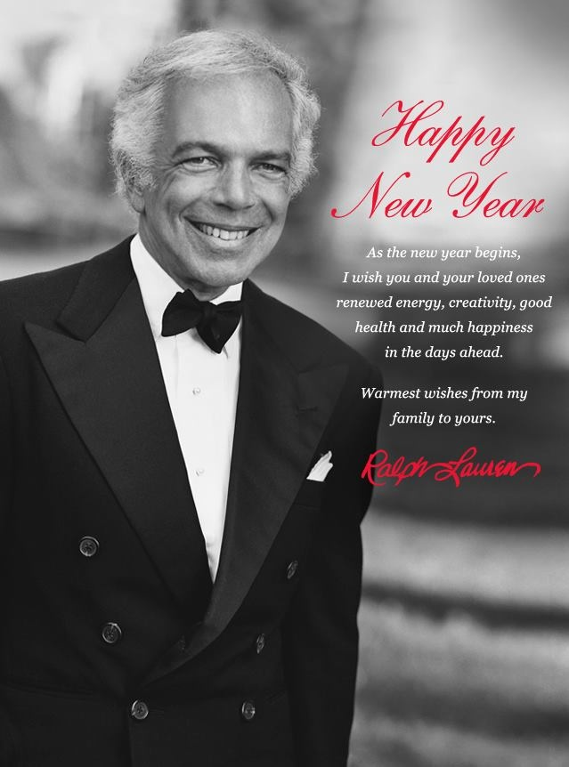Happy New Year from Ralph Lauren! #2013