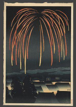"Yamamura Koka (aka Toyonari), ""A Night of Celebration"" aka ""Festival Fireworks."" This from 1924."