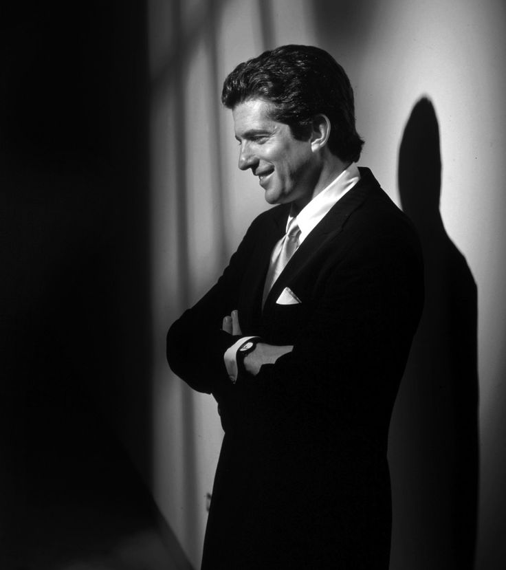 John F Kennedy Jr | John F. Kennedy Jr., photographed at the offices of George Magazine ...