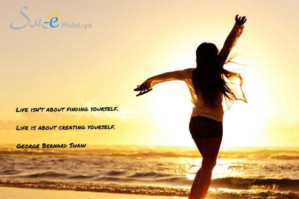 La vida no es encontrarte a ti mismo. La vida es crearte a ti mismo  http://www.sun-e-holidays.com  #lanzarote #canaryIsland