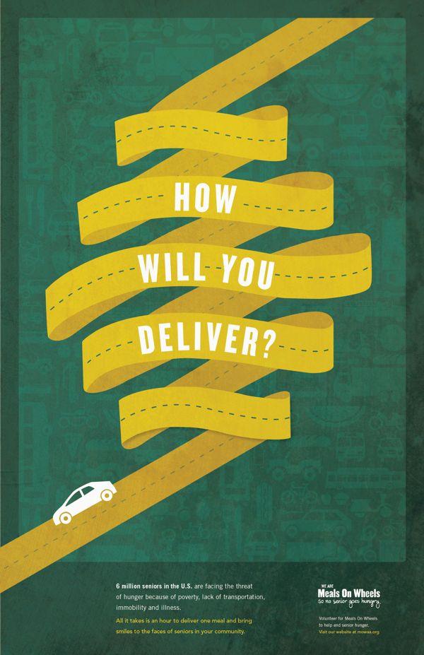Meals On Wheels by Anna DeFazio, via Behance