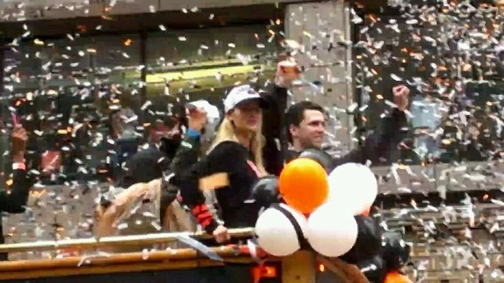 Buster Posey & Wife WS Victory Parade 10/31/2014