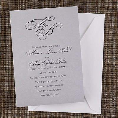 20 Best Images About Monogrammed Wedding Invitations On Pinterest Baroque