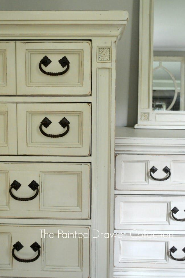 beautiful Old Broyhill Bedroom Furniture Part - 15: Vintage Broyhill Bedroom Set in Annie Sloan Old Ochre and Old White