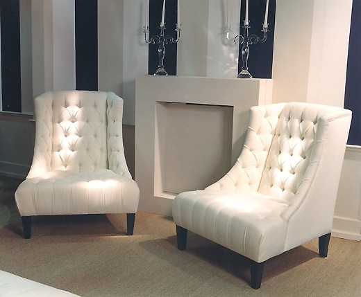 high back chair with fully buttoned back and seat available in customers own fabric or - High Back Chairs For Living Room