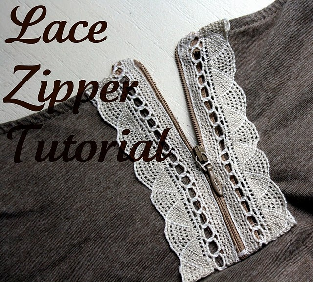 Adding a lace zipper to any tee