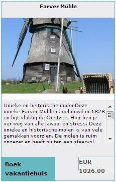 Bijzondere overnachting in een molen Duitsland  http://www.bijzondereovernachting.eu/bijzondere-overnachting-in-duitsland-molen-grot-woning-en-kasteel-ruine-bijzondere-vakantiehuizen/