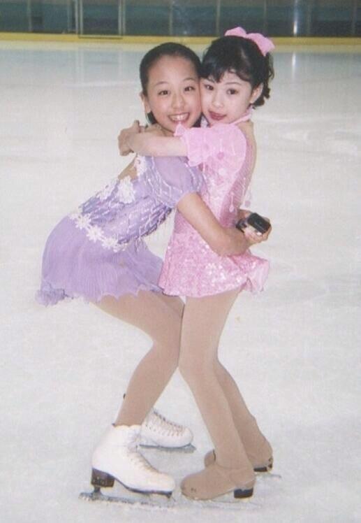 Young Mao Asada / 浅田真央 and Kanako Murakami / 村上佳菜子 #FigureSkating #Japan #Nagoya…