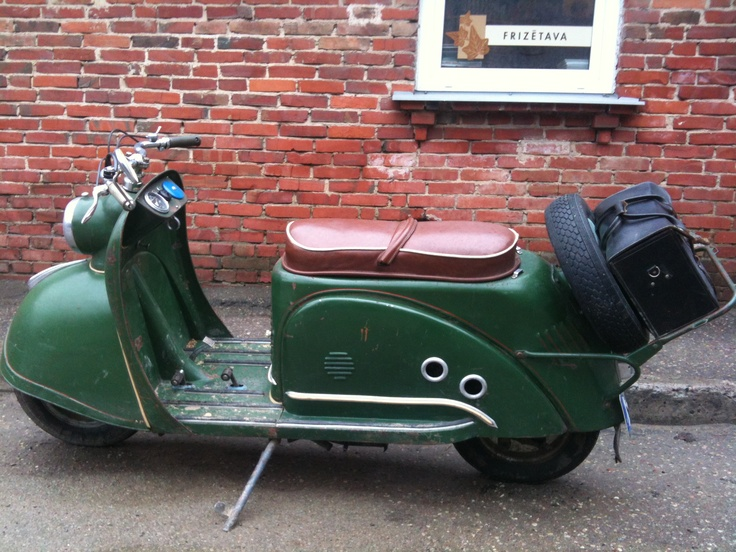 Nice old scooter in Latvia