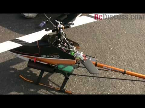 Walkera HM 83 Gas Powered Rc Helicopter flight break in