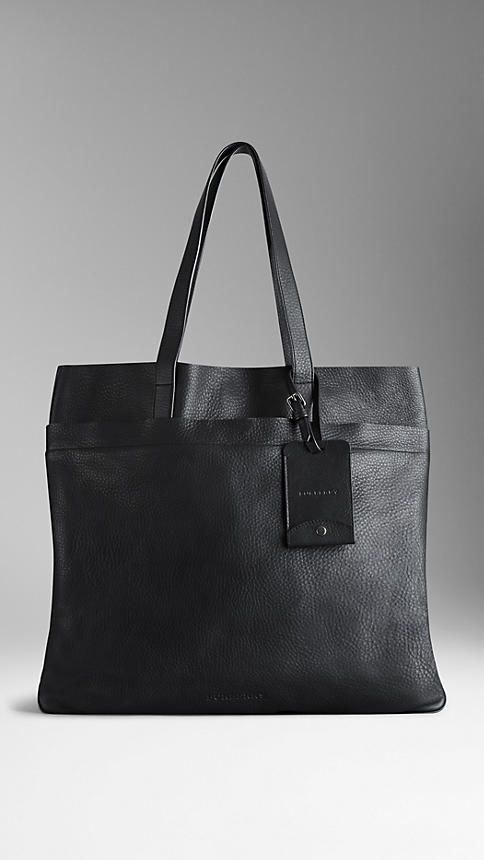 Textured Leather Tote Bag | Burberry