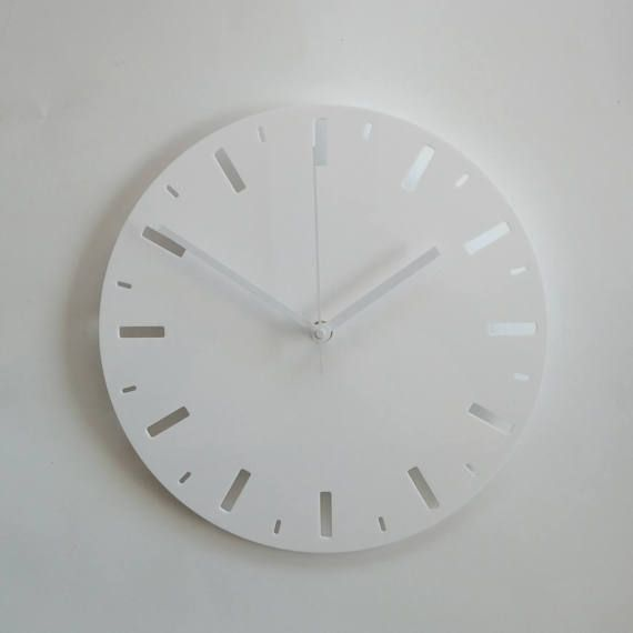 Objectify Markers Outline Wall Clock Medium Size In 2020 Wall Clock Clock Wall Clock Modern