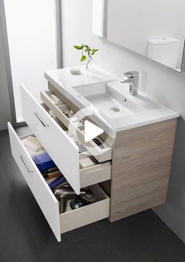 16 Impresionante Vanity Ideas Para Banos Pequenos In 2020 Small Bathroom Vanities Modern Small Bathrooms Small Bathroom
