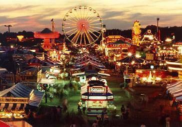 Erie County Fair at night