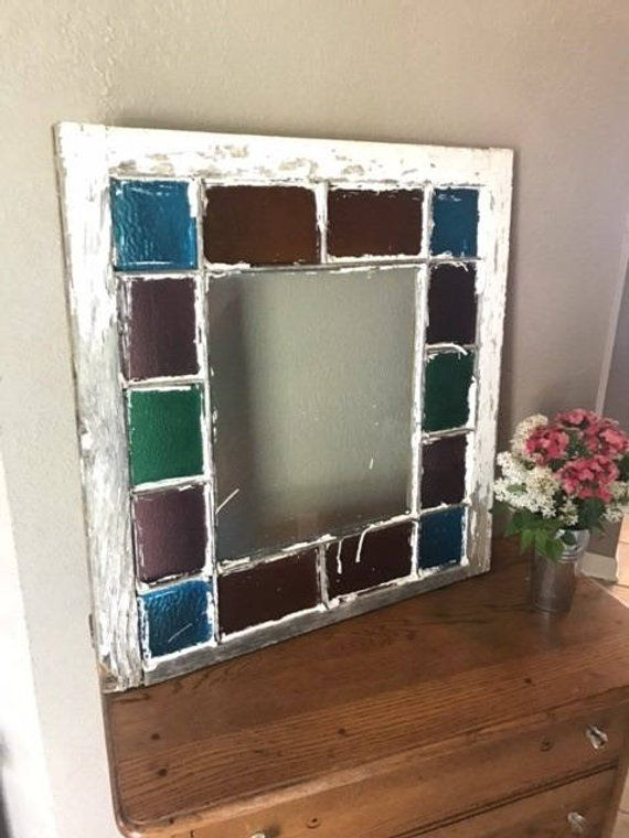 Stained Glass Windows In Queen Anne Style The Stained Glass Colors And Condition Varies With Each Win Antique Window Frames Stained Glass Panels Stained Glass