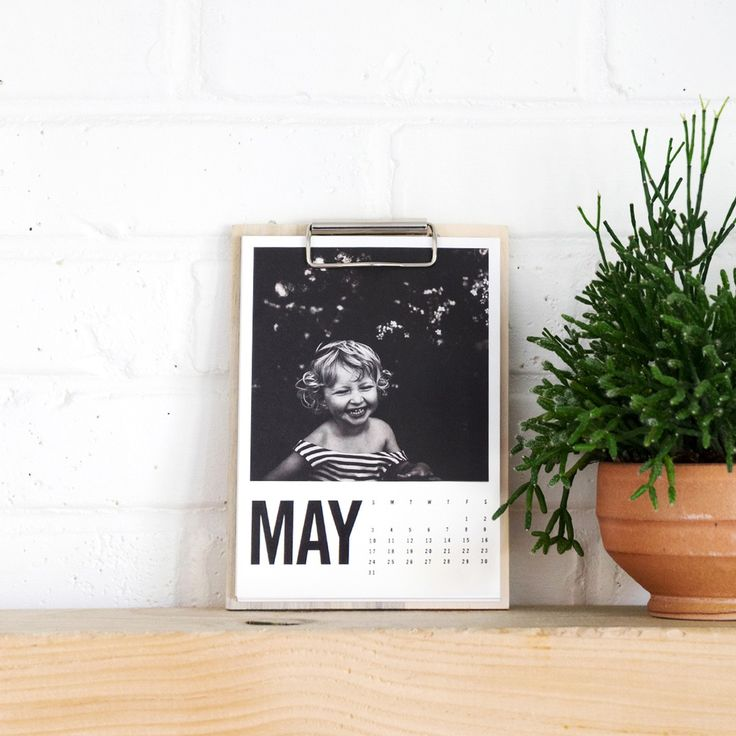 A new spin on an old classic, this calendar features bold monthly designs updated on a rolling 12-month basis. Upload 12 of your favorite photos and enjoy them until this time next year.
