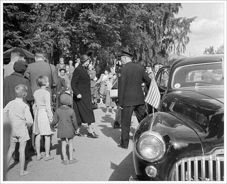 Eleanor Roosevelt visiting Helsinki in 1950.