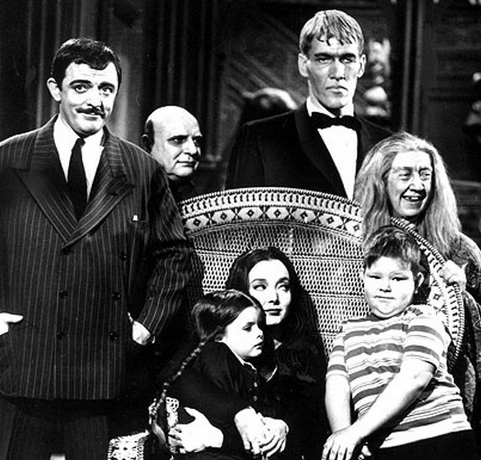 The Addams Family is an American television series September 18, 1964, to April 8, 1966  Starring	Carolyn Jones  John Astin  Jackie Coogan --Uncle Festus  Ted Cassidy--Lurch  Wednesday Friday Addams (played by Lisa Loring)  Pugsley Addams (played by Ken Weatherwax